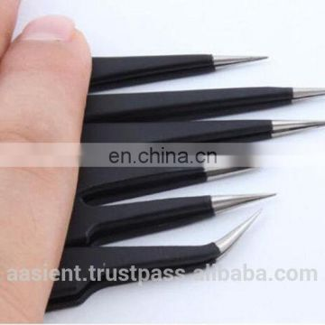 Tweezer 6X Anti-static Stainless Steel Straight Tool Set Maintenance Repair Safe New High Quality Precision Tweezers