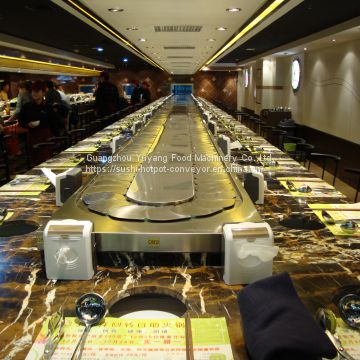 Sushi rotary conveyor belt Sushi train food delivery system manufacturer - michaeldeng@gdyuyang.com