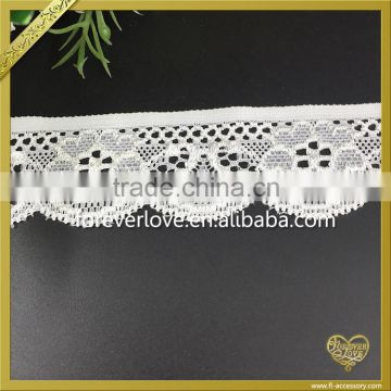 Wholesale underwear narrow stretch lace trim flower fabric embroidery lace trimming FLL-020