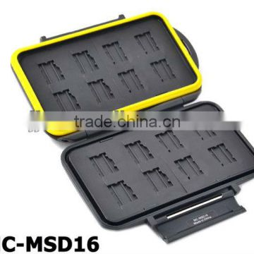 JJC MC-MSD16 Rugged Waterproof Memory Card Case (16x microSD / microSDHC Cards)