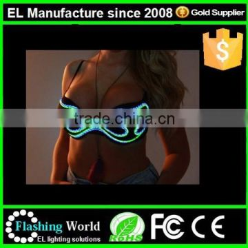 extra large cup el wire light up various types of latest fashion sexy bra