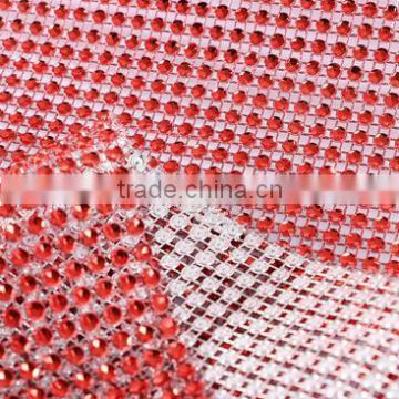 Bling Bling Gold Color Or Various Colors Plastic Rhinestone Mesh Trimming Custom Cut For Decoration Vase Clothing Shoes