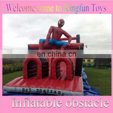 Spiderman inflatable obstacle courses for kids