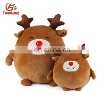 factory wholesale plush egg-shaped soft deer toy for christmas day