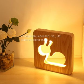 New Animal Shaped Design LED wooden Table Lamp