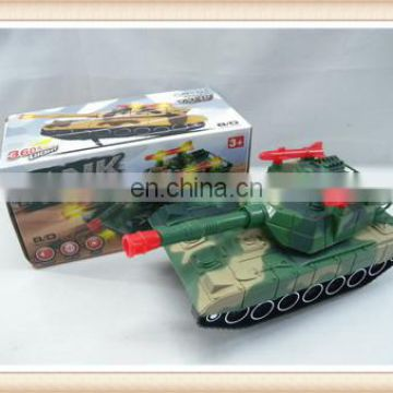 army green color flash music b/o plastic tank toy