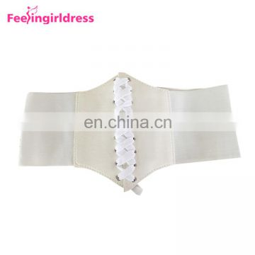 Guangzhou Women Bandage Shape-Making Custom Leather Elastic Waistband Lace Up Belt