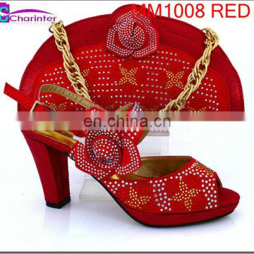 shoes and matching clutch bag women high heel shoes MM1008