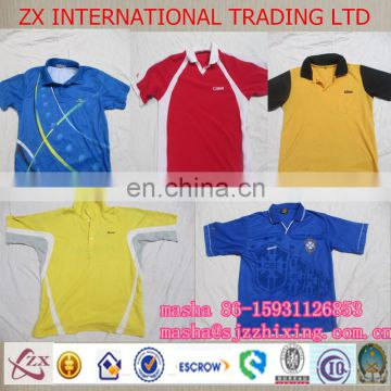 Used clothing used clothes men collar T-shirt turkey wholesale children clothes