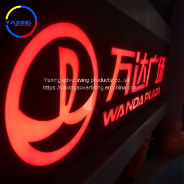 Illuminated 3D letter and light box backlit letter sign