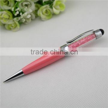 TCR-08 crystal pen with USB , fat Promotional Stylus pen