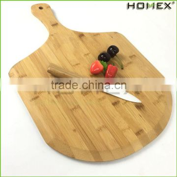 Food Safe Bamboo Pizza Cutting Board Peel Pizza Paddle/Homex_FSC/BSCI Factory