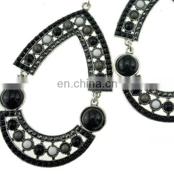 Wholesale trade in Europe and America environmental alloy rhinestone earrings