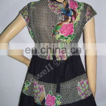 COTTON EMBROIDERED TUNIC / TOP / INDIAN KURTI