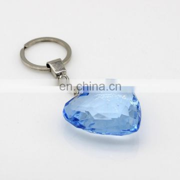 New Arrive Best quality Pure Blue Crystal gifts souvenirs crystal heart key