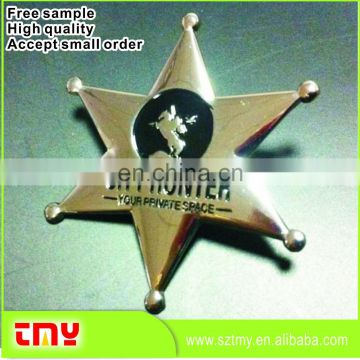 Hot Sale High Quality Cheap Price Star Shaped Badge Manufacturer From China