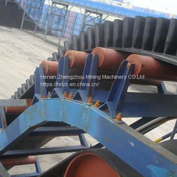 DJ Corrugated sidewall inclined belt conveyor for buck material