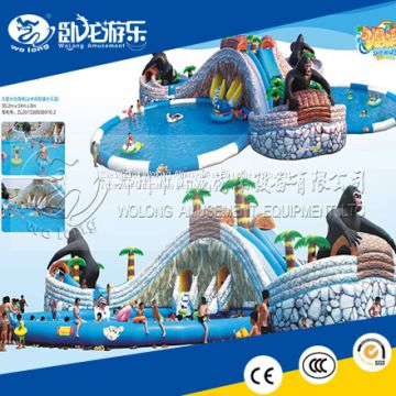 swimming pool inflatable water slide for adults, beach inflatable water slide ,inflatable kids water pool slide