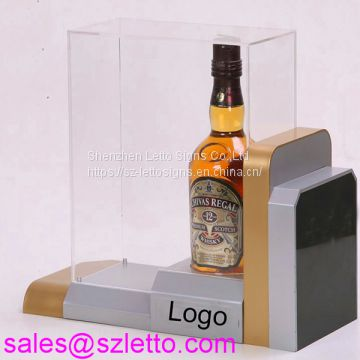 acrylic liquor display rack single wine bottle holder