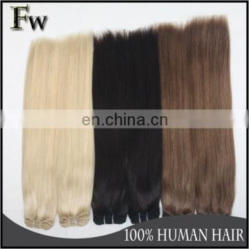 Factory hair wholesale top quality human hair extension top quality light brown hair weave extensions