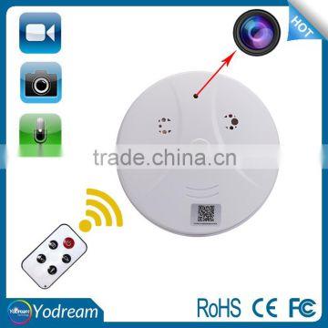 Wireless Smoke Detector Hidden Camera nano DVR IP Cam with Free