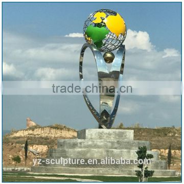 outdoor city decoration large size stainless steel sculpture for sale