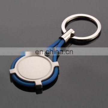 factory soft plastic round shape key chain or keyring