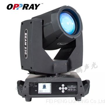 OPPRAY 230W 7R Sharpy Beam Moving Head Light  With Dual Gobo Dual Prism DMX 512 DJ Requitment