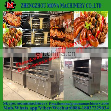 brazilian rodizio machine charcoal grill automatic rotary chicken grill machine for sale