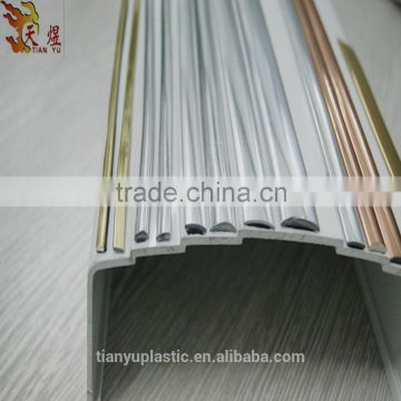 Pvc Decoration Flat Silver Golden Strip Edge Banding Tape Trim Plastic Furniture Components Of From China Suppliers 100098341