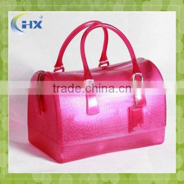 OEM design candy silicone tote bag for lady and girl