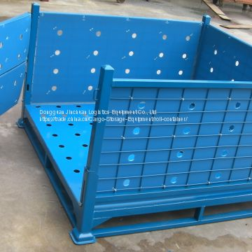 Collapsible Mesh Wire Container Warehouse With PP Sheet