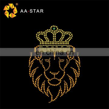 The king of lions strass heat transfer motif of Hot Fix Transfer from China  Suppliers - 158459262 2e0490c66e8d