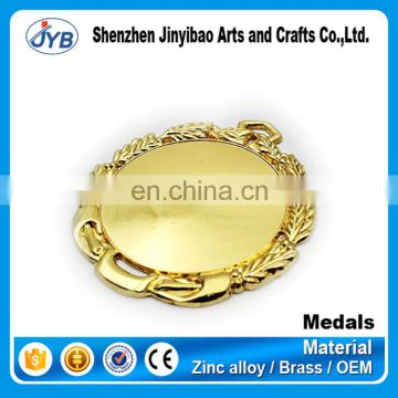 design your own custom metal crafts production zinc alloy blank gold award metal sport medal