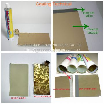 Collapsible Aluminum Black Hair Dye Packaging Tube