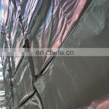 brown/silver color 190gsm pe tarpaulin Large Area coverage