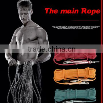 Outdoor climbing rappelling rope ,survival rope climbing equipment