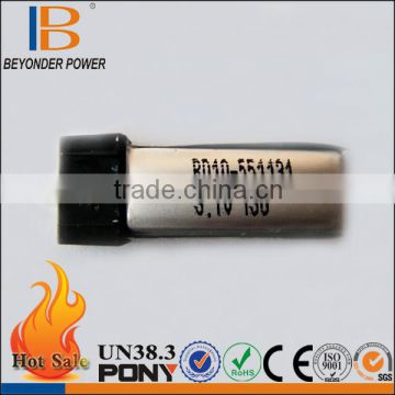 China manufacture mini rechargeable battery smallest 3.7v battery 130mAh for remote control RC toy