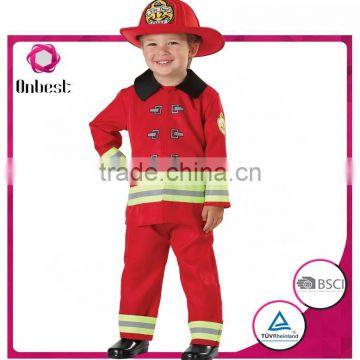 2016 Cute Children Bright Costumes For Firemen Career Dresses
