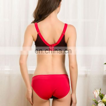 High Grade Latest Fashion Red Girl Sexy Fancy Bra Panty Set