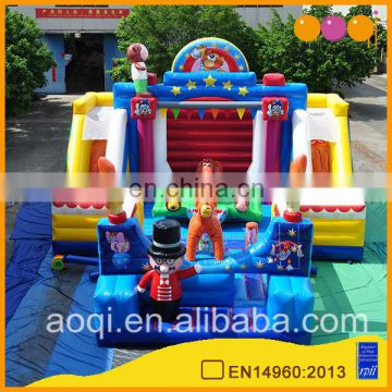 Custom design circus show fun city outdoor inflatable playground animal bouncer for sale