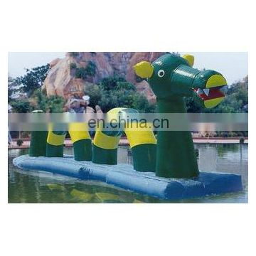 inflatable water game, inflatable floating bridge,inflatable water dragon, inflatable raft bridge