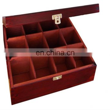 Luxury high quality popular fashion pine wooden box with divider