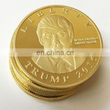 Custom gold plated metal coin for sale /Brass Coin