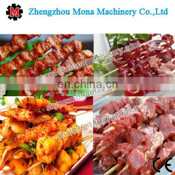 Automatic souvlaki skewer machine / doner kebab wear string machine / doner kebab making machine