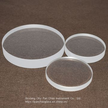 Customized Transparent Fused Glass Disc Quartz Optical Flat Glass Plate