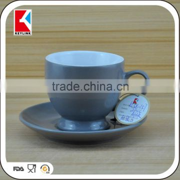 chocolate cups ceramic personalized coffee logo printed wholesale ceramic cup and saucer