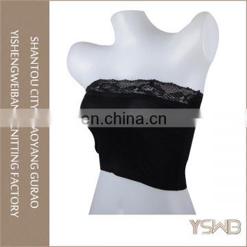 Wholesale strapless fashion girl portable women sex yoga tube top