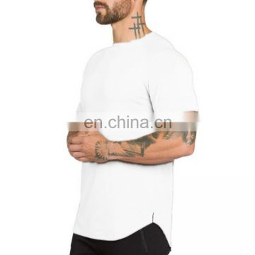 Basic custom gyms fitness extend hip hop blank short sleeve t-shirt
