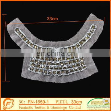 white color fashion new acrylic collar trimming for garment